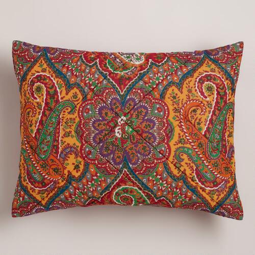 Red Rialto Paisley Pillow Shams, Set of 2