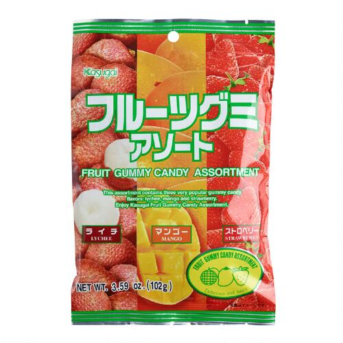 Kasugai Fruit Gummy Candy Assortment