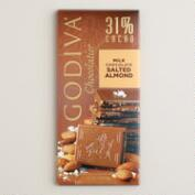 Godiva 31% Milk Chocolate Salted Almond Bar, Set of 2