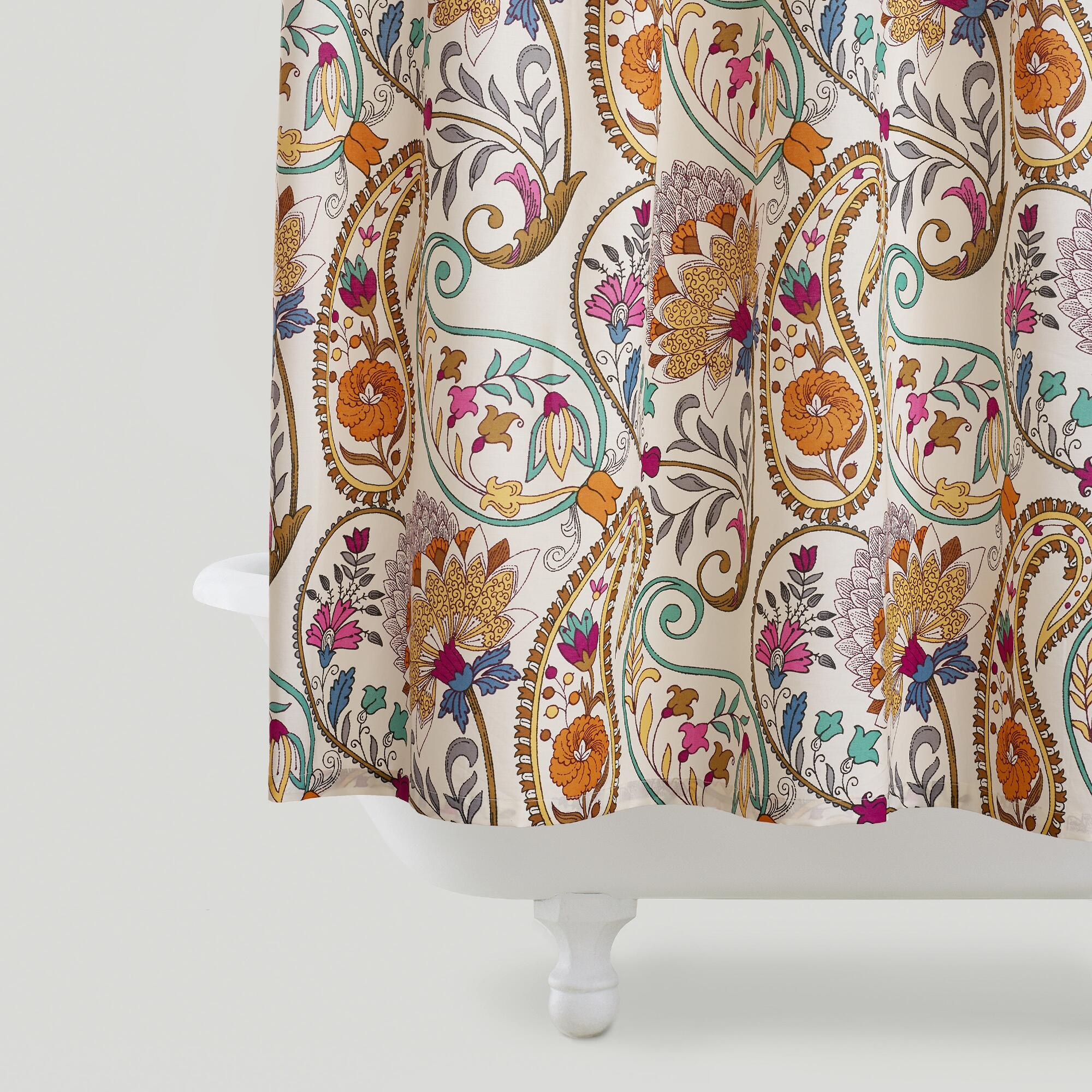 Paisley Floral Shower Curtain World Market