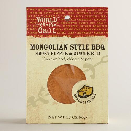 World Grill Mongolian BBQ Rub, Set of 6