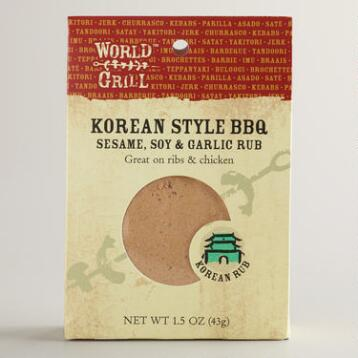 World Grill Korean BBQ Rub, Set of 6