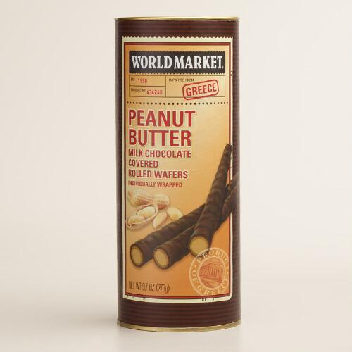World Market® Milk Chocolate Peanut Butter Rolled Wafers