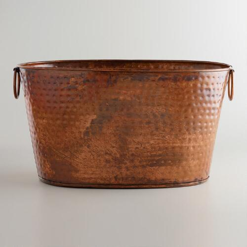 Hammered Copper Tub