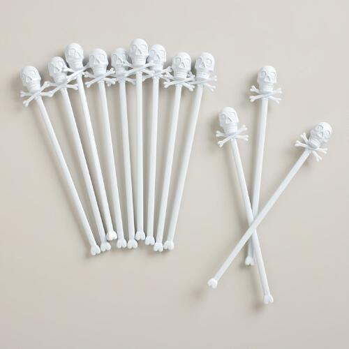 Skull Stirrers, Set of 12