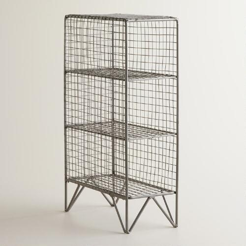 Silver 3-Bottle Mesh Grid Holder