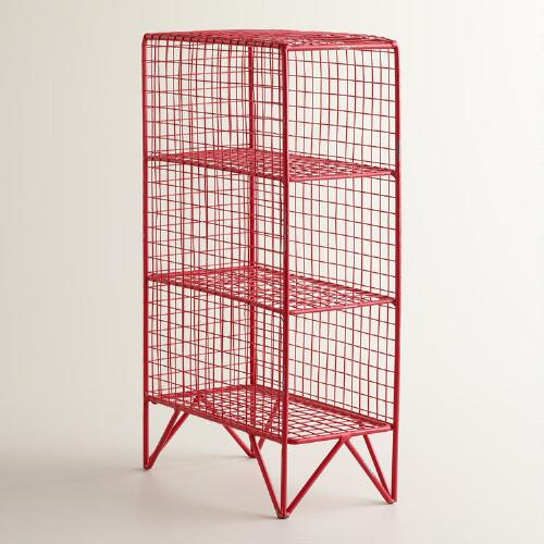 Red 3-Bottle Mesh Grid Holder