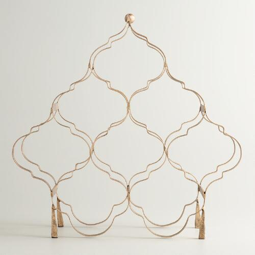 Gold 8-Bottle Taj Wine Rack