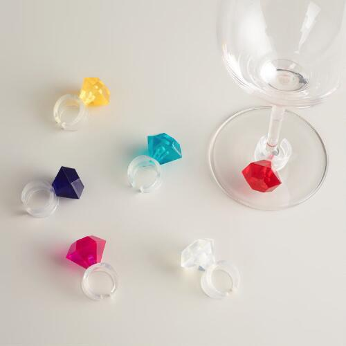 Cocktail Ring Wine Charms