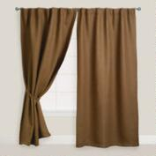 Brown Herringbone Jute Curtain