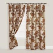 Chinois Garden Jute Ring Top Curtain