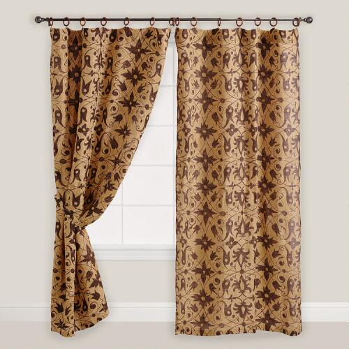 Fresco Print Jute Curtain