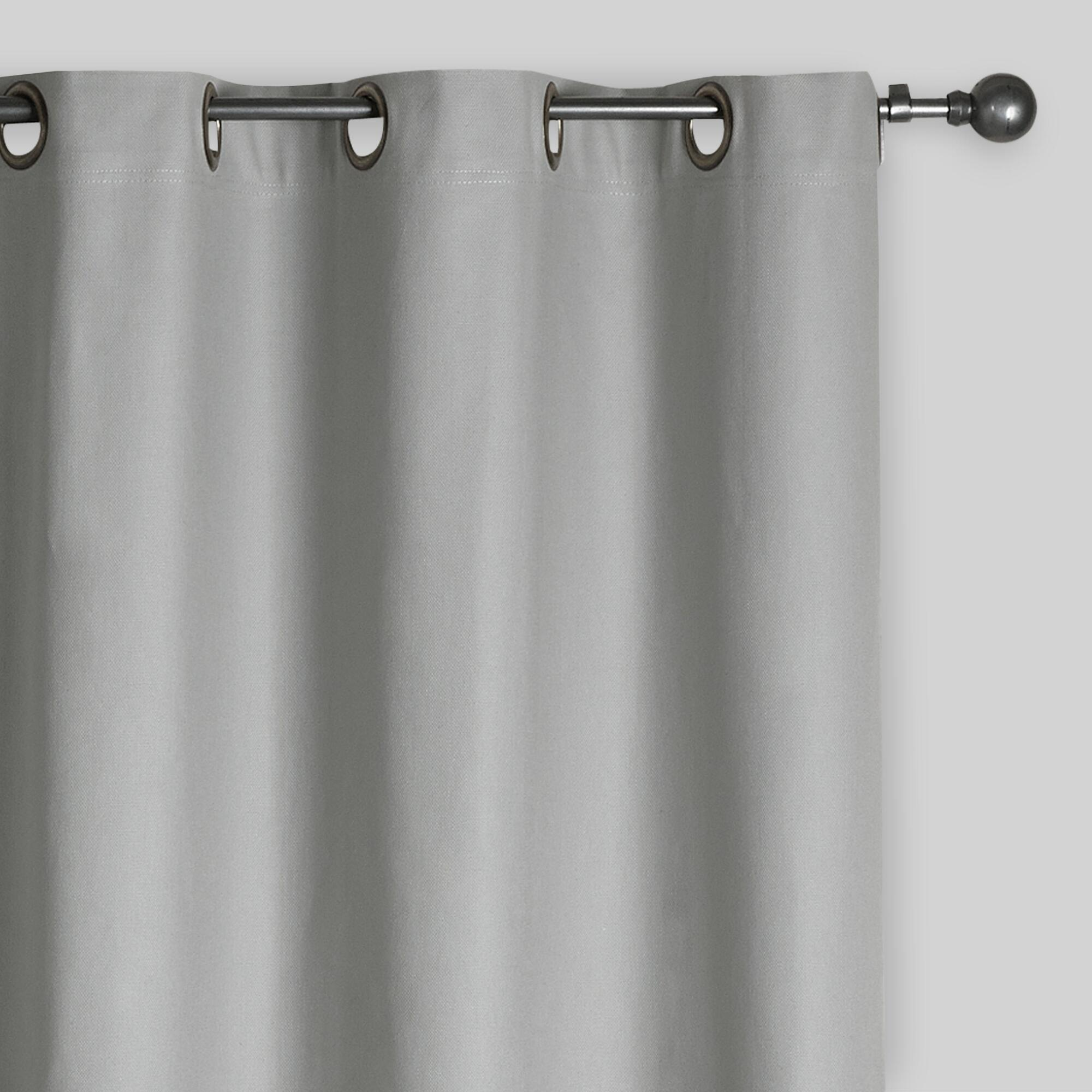 Slate gray parker grommet top curtain world market - Pictures of curtains ...