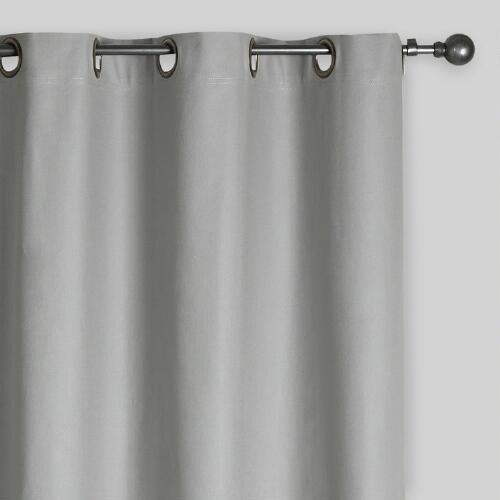 Slate Gray Parker Grommet Top Curtains, Set of 2