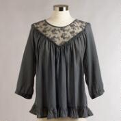Gray Lace Giselle Top