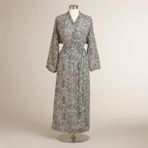 Long Blue Talia Robe