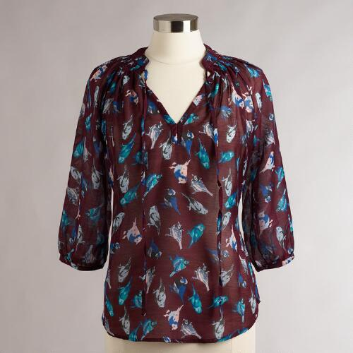 Purple Bird Justyna Blouse