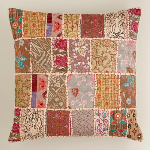 Patchwork Suti Throw Pillow