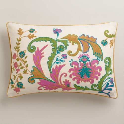 Gold and Violet Scottish Mist Lumbar Pillow