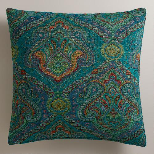 Peacock Jacquard Glasgow Throw Pillow
