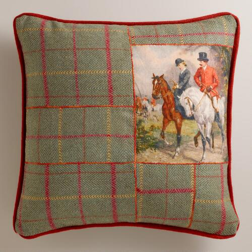 Equestrian Tweed Glasgow Throw Pillow