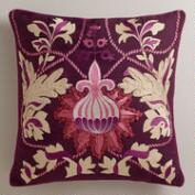 Purple Bulb Throw Pillow