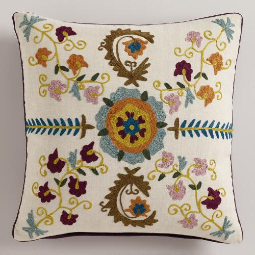 Glasgow Suzani Throw Pillow