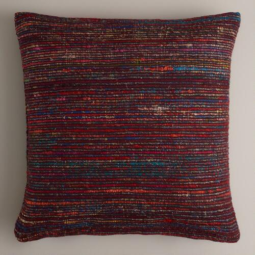 Fig Recycled Sari Throw Pillow