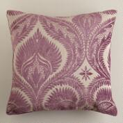 Huckleberry Art Nouveau Chenille Throw Pillow