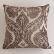 Rain Drum Art Nouveau Chenille Throw Pillow