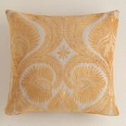 Amber Art Nouveau Chenille Throw Pillow
