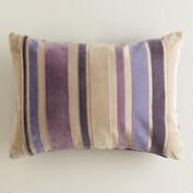 Purple Stripe Velvet Lumbar Pillow