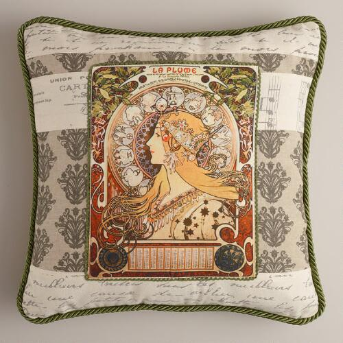 La Plume Throw Pillow