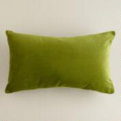 Calla Green Velvet Lumbar Pillow