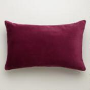 Fig Velvet Lumbar Pillow