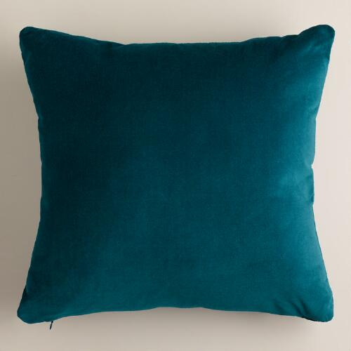 Teal Velvet Throw Pillows