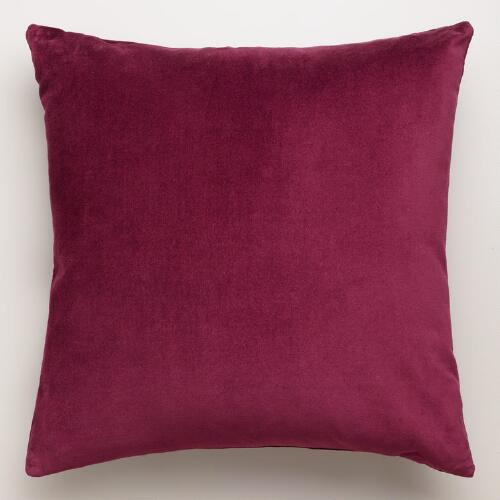 Fig Velvet Throw Pillows