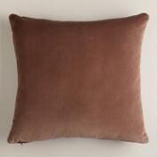 Brown Velvet Throw Pillow