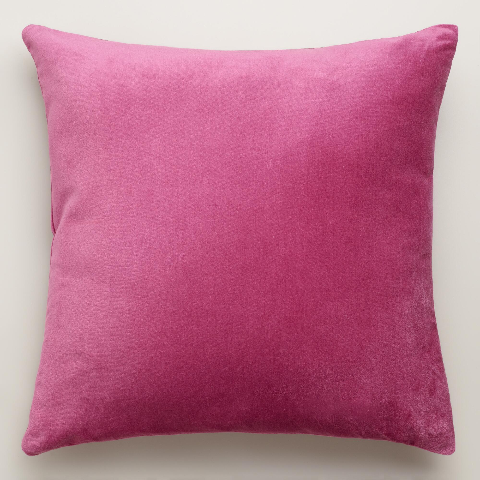 Throw Pillows Velvet : Rose Quartz Velvet Throw Pillows World Market