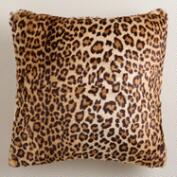 Leopard Faux Fur Throw Pillow
