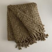 Chunky Lurex Fringe Throw