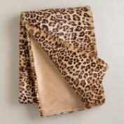 Leopard Faux Fur Throw