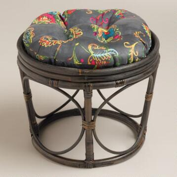 Antigua Micro Suede Papasan Stool Cushion