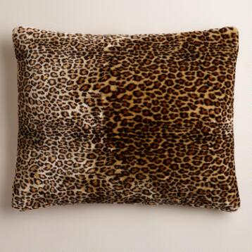 Leopard Faux Fur Pet Bed