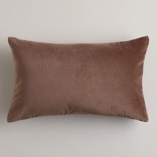 Rain Drum Velvet Lumbar Pillow