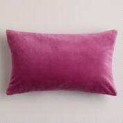 Rose Quartz Velvet Lumbar Pillow