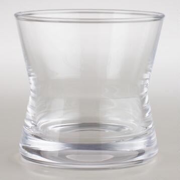 Hourglass Rocks Glasses, Set of 4