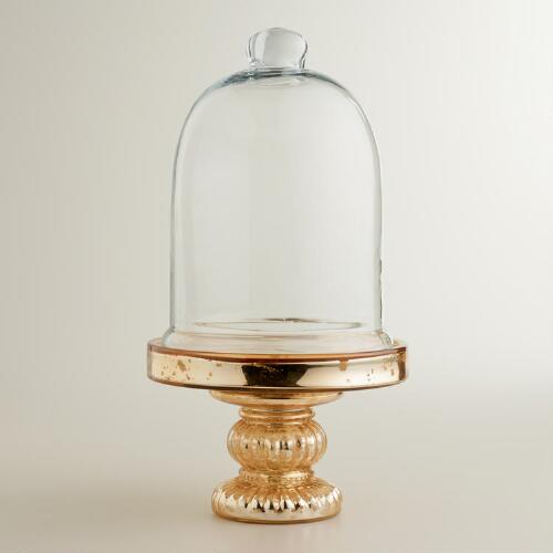 Gold Mercury Glass Cloche