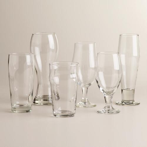 Craft Brews Glasses, Set of 6