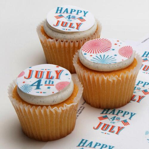 Ticings Happy Fourth Icing Toppers, 15-Count